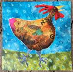 Susan Rossiter, Working Large: Big Chicken Collage