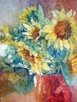 Kathie George, Wax and Watercolor - An Interesting Mix