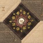 Helene Knott, Hand Stitched Button Medallions