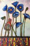 Carol Spohn, Tall Blue Poppies