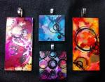 Jennifer MacLean, Vivid Ink Mixed Media Pendants