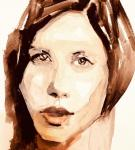 Jenny Doh, Gouach Portrait Painting