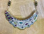 Jean VanBrederode, Enameled Bib Necklace