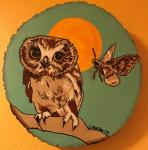 Carla Bartow, Woodburned Mixed Media Nature Portraits