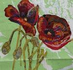 Susan Schenk, Blooming Collage Flowers: Representational Collage