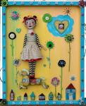 Lulu Moonwood Murakami, Box Full of Memories - Cloth & Clay Doll