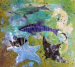 Susan Schenk, Stencils, Maps and Collage: Downsized